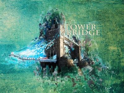 Ciekawe ujęcie Tower Bridge