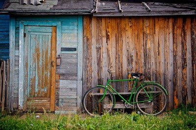 BG1481 Zielony rower