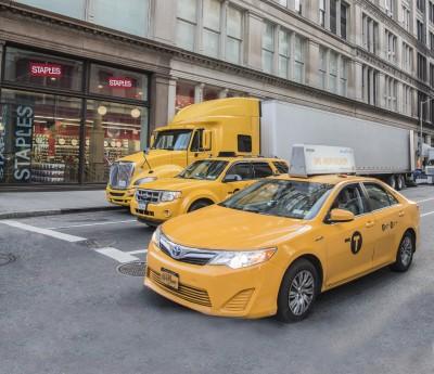 BG1543 Żółte pojazdy w Nowym Jorku