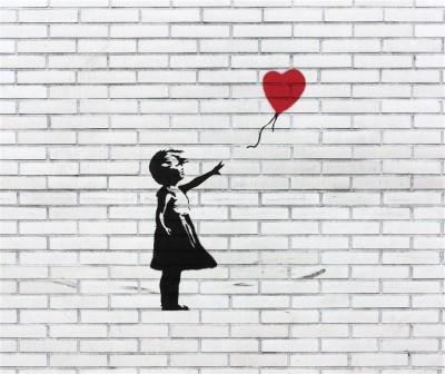 Banksy Dziewczynka z balonikiem