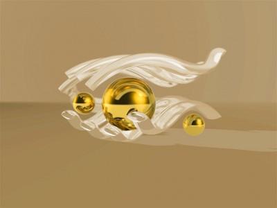 Złota kula w dłoni
