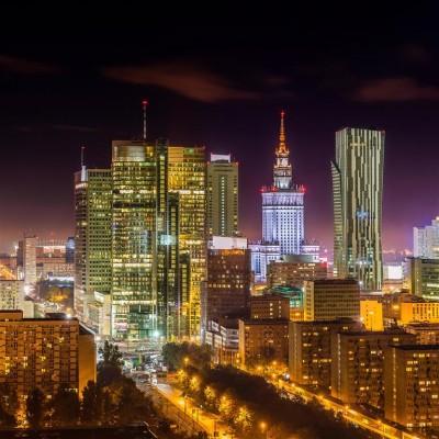 Warszawa w nocy