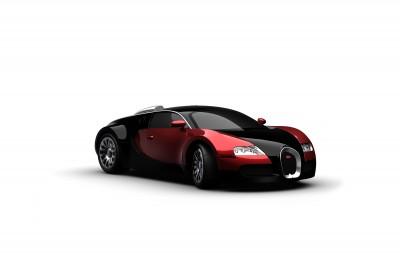 Czerwone Bugatti Veyron