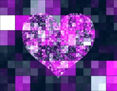 Mozaika w kształcie serca