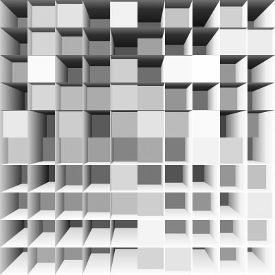 Iluzja optyczna Kostki 3D