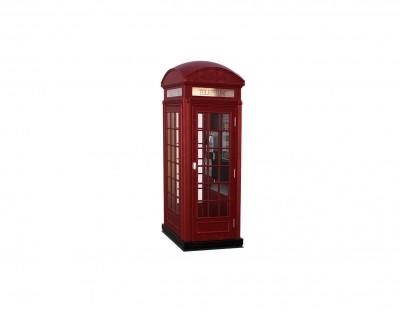 Czerwona angielska budka telefoniczna