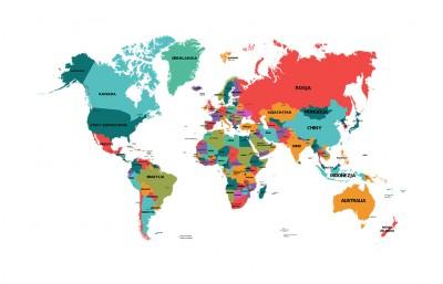 Polityczna mapa świata po polsku