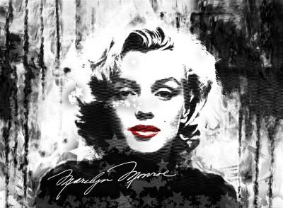 Marilyn Monroe z czerwonymi ustami