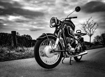 Piękny klasyczny motocykl BMW