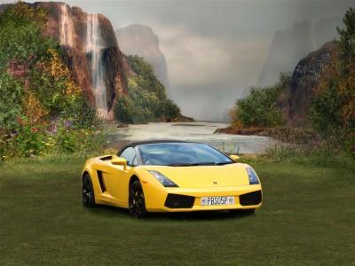 Lamborghini na magicznej łące