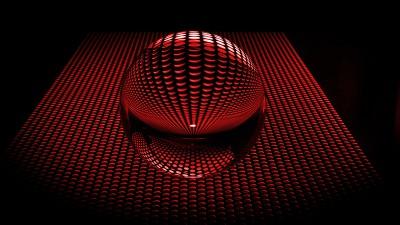 Czerwona kula disco