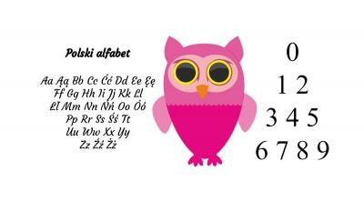Polski alfabet Literki dla dzieci
