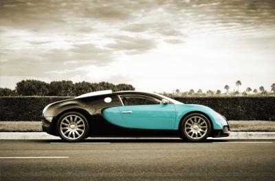 Turkusowe Bugatti