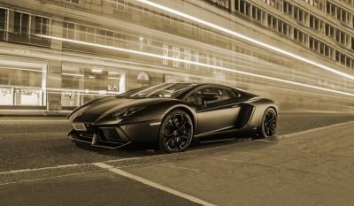 Lamborghini sepia