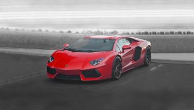 Czerwone Lamborghini