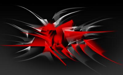 Abstrakcyjny motyw Czerwone kolce