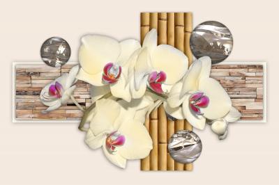 Kwiatowa kompozycja z bambusami