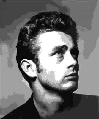 James Dean Portret B&W