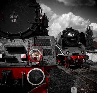 Wolsztyńskie lokomotywy Ol49-69 i 18-201