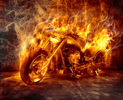 Chopper w ogniu