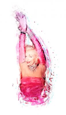Śliczna aktorka Marilyn Monroe
