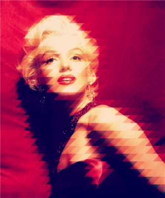 Piękna modelka Marilyn Monroe