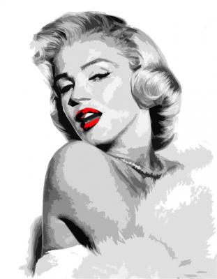 Marilyn Monroe - czerwone usta