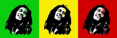 Trójkolorowy portret Boba Marleya