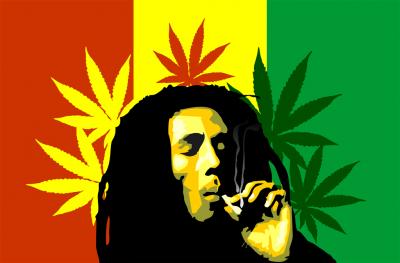 Bob Marley z marihuaną