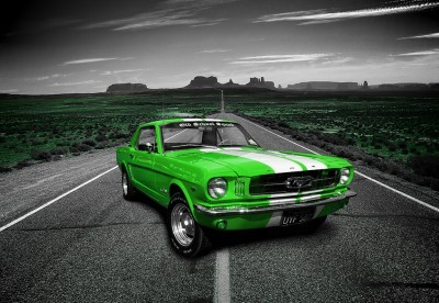 Limonkowy Mustang