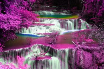 Fioletowy wodospad