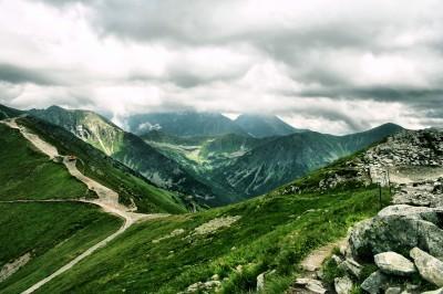 Główna grań w Tatrach