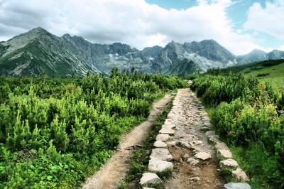 Kamienista droga w Tatrach