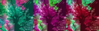 Abstrakcja Drzewa jesienią