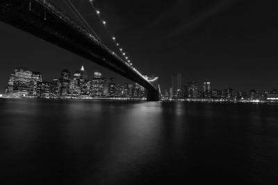 BG1434 Nocne zdjęcie mostu USA New York
