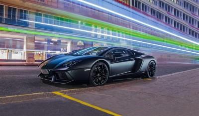 Czarny matowy Lamborghini Aventador - Ben