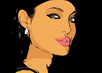 Piękna aktorka Angelina Jolie