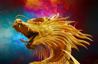 Złoty Chiński smok