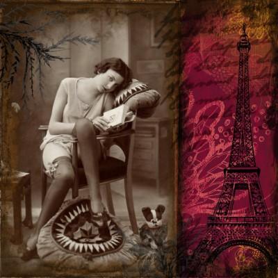 Widokówka z Paryża w stylu vintage