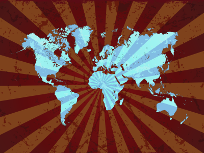 Błękitna mapa świata