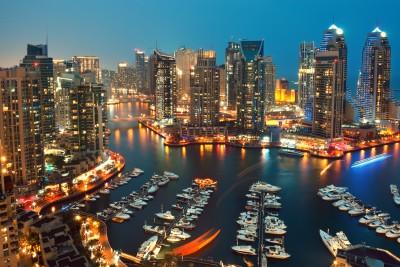 Dubaj w nocy