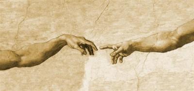 Dłonie Stworzenie Adama