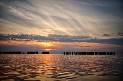 Zachód słońca w Dziwnowie