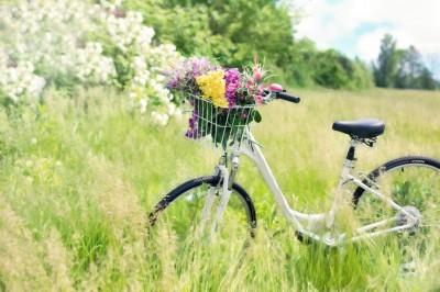 Damka z kwiatami