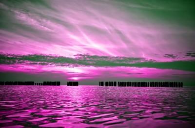 Wrzosowy zachód słońca w Dziwnowie