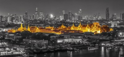 Gold night in Bangkok