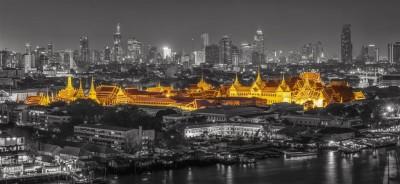 Gold night in Bangkok