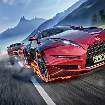 Wyścig sportowych samochodów