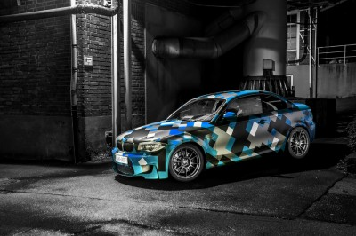 Turkusowe BMW