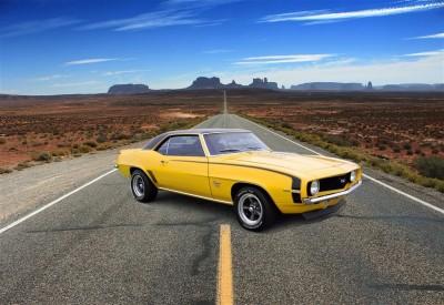 Żółty Chevrolet Chevelle SS396